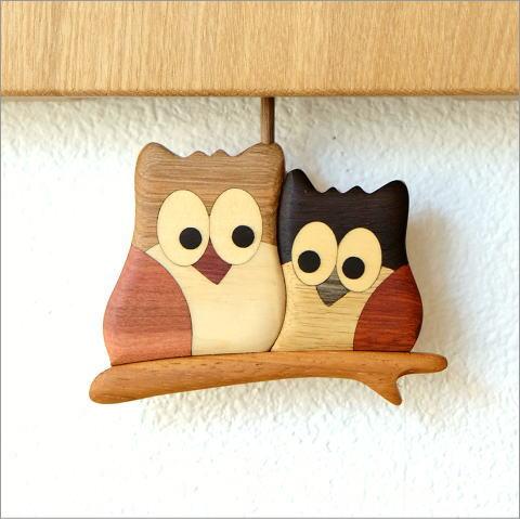 木の振り子時計 フクロウNA(3)