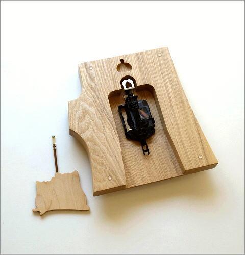木の振り子時計 フクロウNA(5)