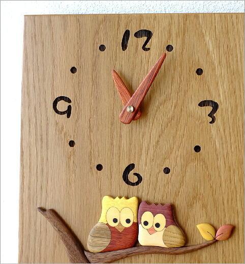 木の振り子時計 スクエア(2)