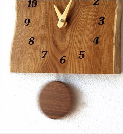木の振り子時計 エンジュ(3)