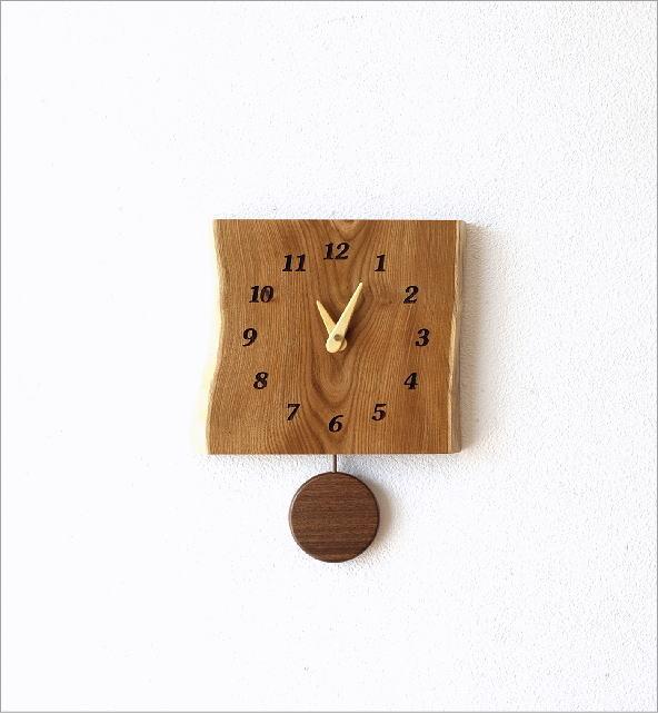木の振り子時計 エンジュ(5)