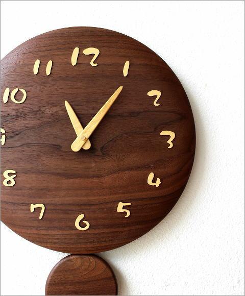 木の振り子時計 サークル(1)