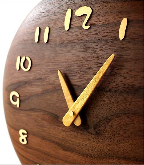 木の振り子時計 サークル(2)
