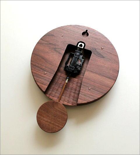 木の振り子時計 サークル(3)