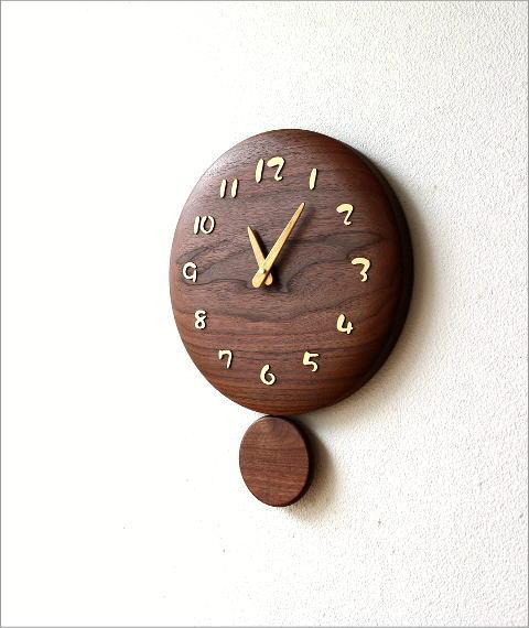 木の振り子時計 サークル(4)