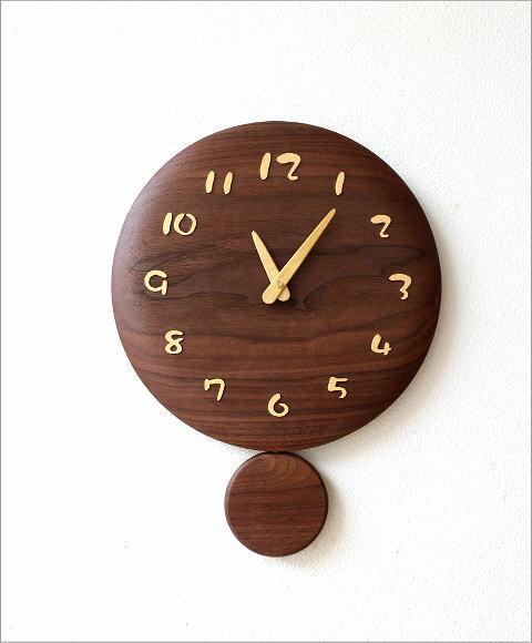 木の振り子時計 サークル(5)