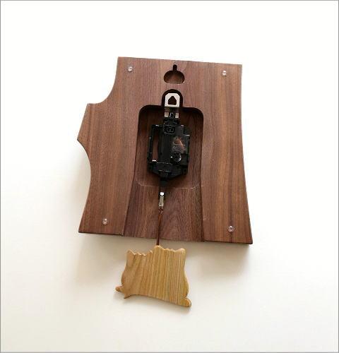 木の振り子時計 フクロウ(4)