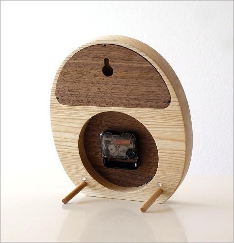 ウッドフクロウの掛け置き時計(3)