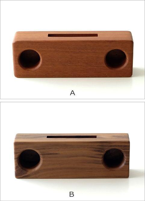 Woodスマホスピーカー ダブル4タイプ(3)