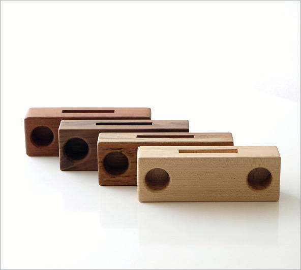 Woodスマホスピーカー ダブル4タイプ(6)