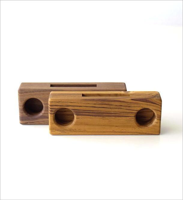 Woodスマホスピーカー ダブル42タイプ(6)