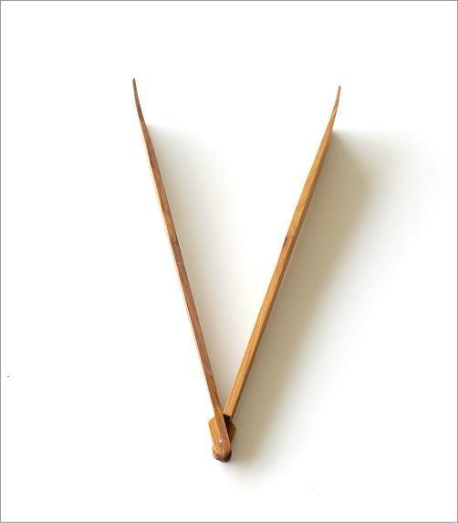 ウッド折りたたみトング(3)