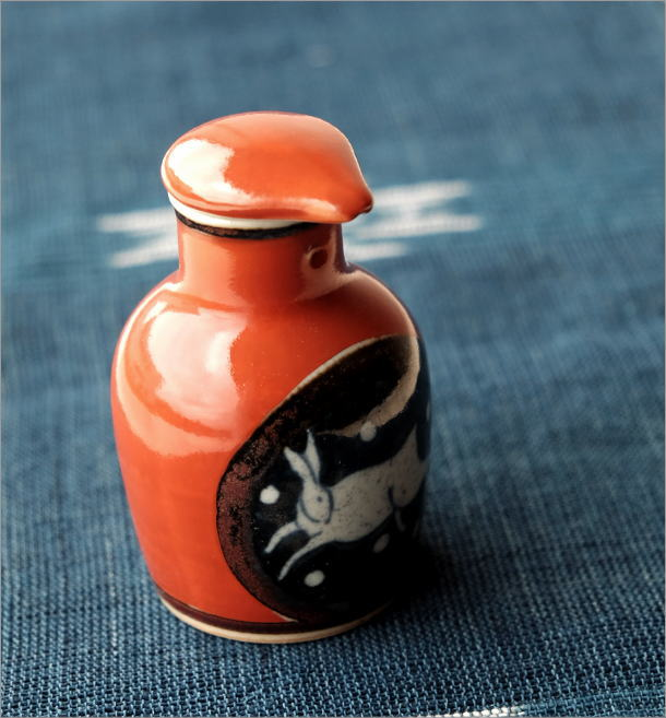 液だれしない陶器の醤油差し  楽らく醤油さし H(1)