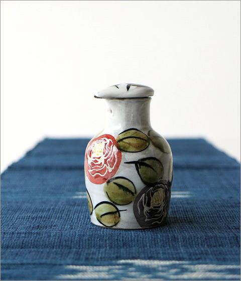 液だれしない陶器の醤油差し 楽らく醤油さし ローズガーデン(3)