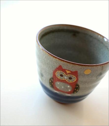 フクロウ湯のみ(1)
