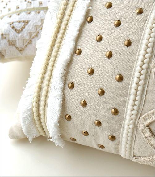 レクタングルビーズ刺繍クッション2タイプ(3)