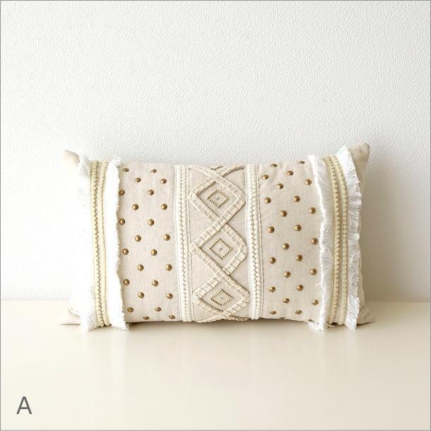 レクタングルビーズ刺繍クッション2タイプ(5)