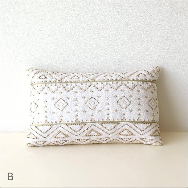 レクタングルビーズ刺繍クッション2タイプ(6)