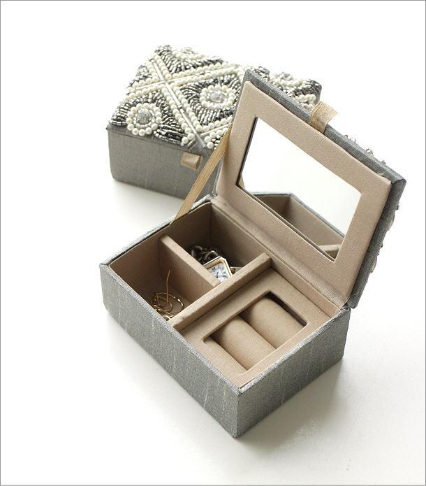 ビーズ刺繍ジュエリーミニボックス 2タイプ(1)