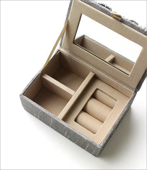 ビーズ刺繍ジュエリーミニボックス 2タイプ(2)