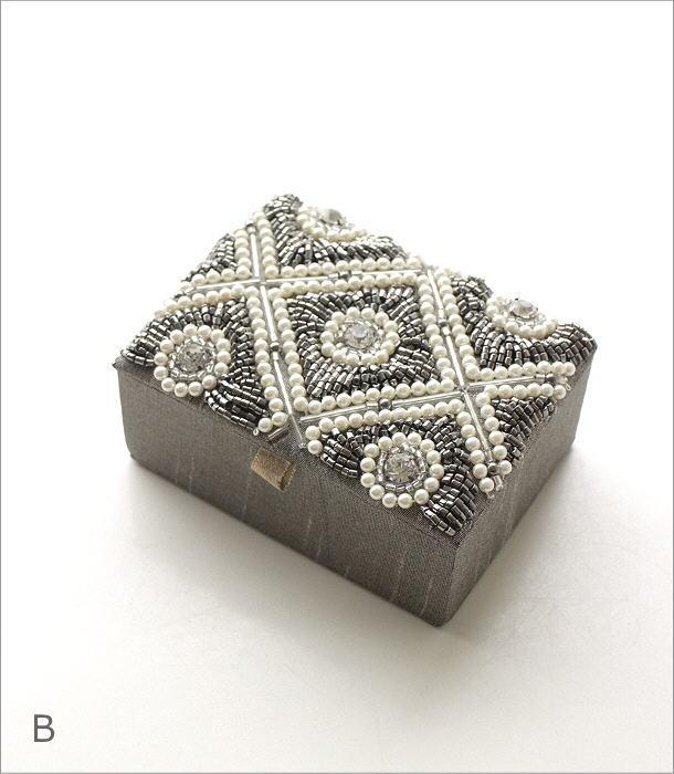 ビーズ刺繍ジュエリーミニボックス 2タイプ(5)