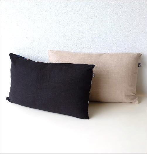 ジャングル刺繍レクタングルクッション 2カラー(4)