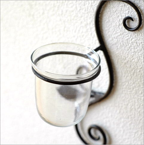 花瓶 ガラス 壁掛けフラワーベース・ミニ(2)