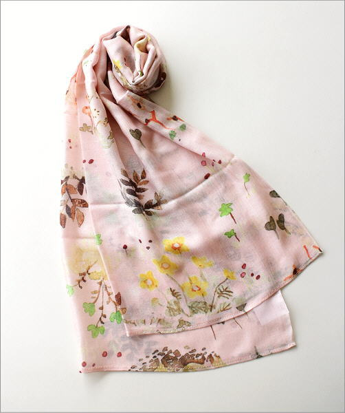 シルクモダール花柄ショール(2)