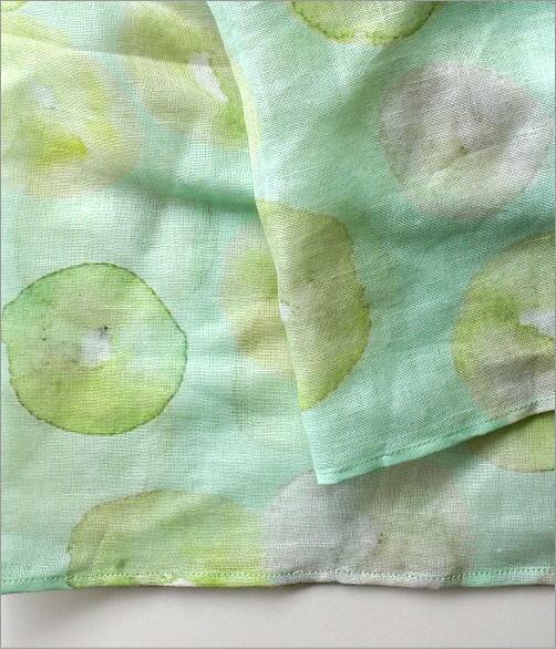 リネンコットンフルーツ柄ショール(3)