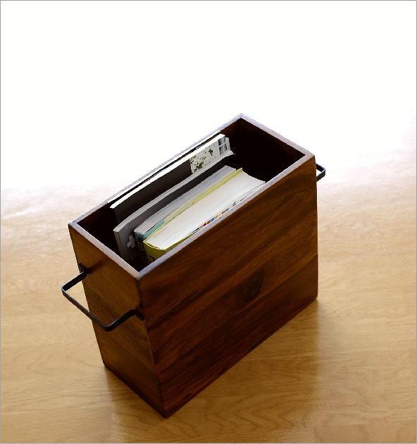 マガジンラック木製 シーシャムウッドフリーボックス(1)