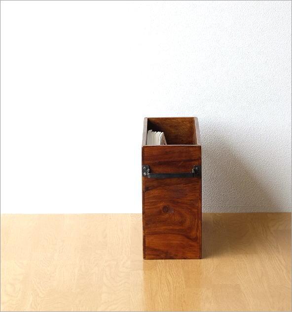 マガジンラック木製 シーシャムウッドフリーボックス(2)