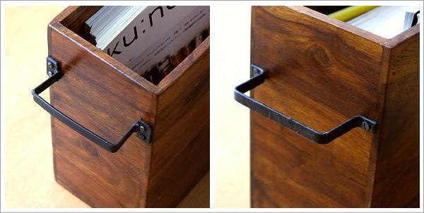 マガジンラック木製 シーシャムウッドフリーボックス(3)