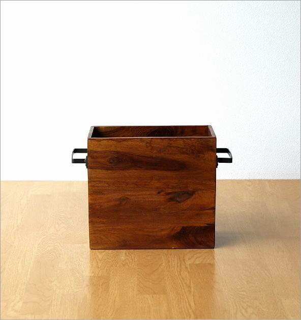 マガジンラック木製 シーシャムウッドフリーボックス(5)