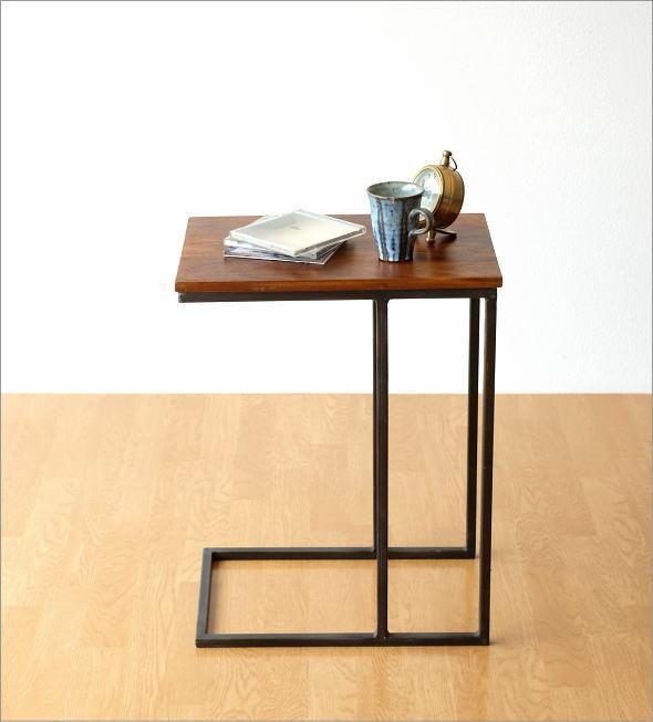 シーシャムとアイアンのサイドテーブル(4)