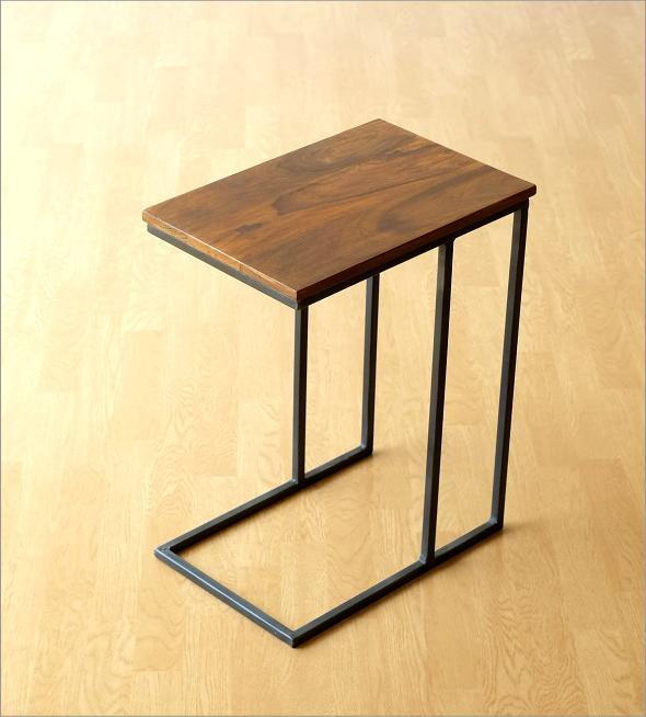 シーシャムとアイアンのサイドテーブル(5)