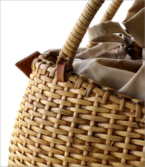 ラタンシンプル編みバッグ 2カラー(2)