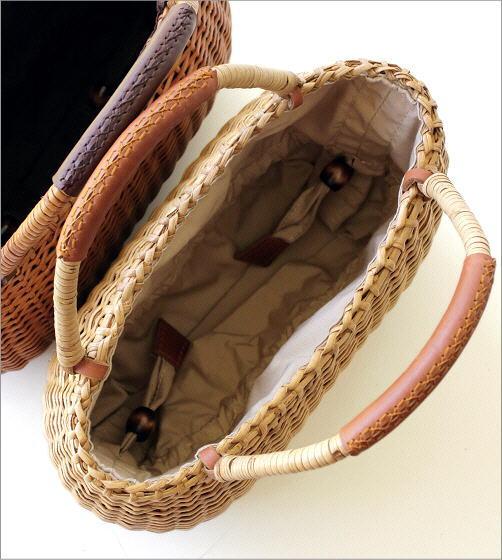 ラタンシンプル編みバッグ 2カラー(4)