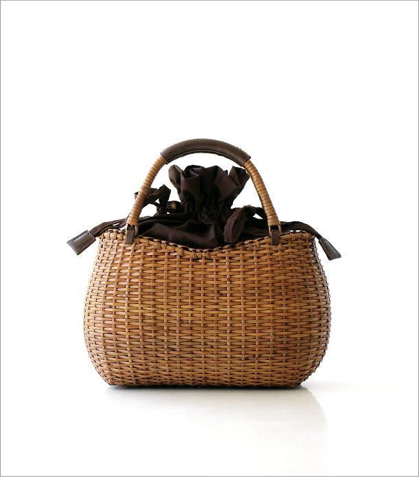 ラタンシンプル編みバッグ 2カラー(5)