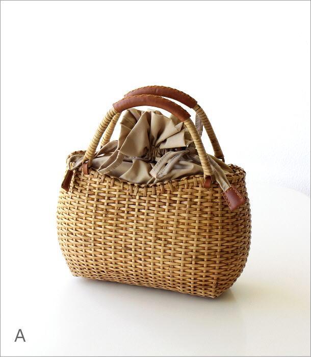ラタンシンプル編みバッグ 2カラー(6)