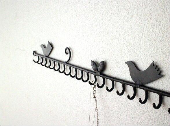 小鳥の壁掛けアクセサリーホルダー(1)