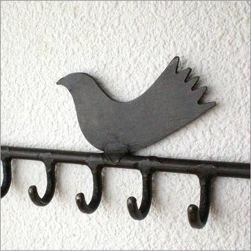 小鳥の壁掛けアクセサリーホルダー(2)