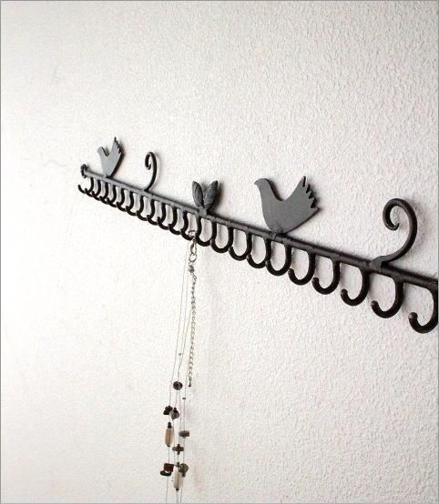 小鳥の壁掛けアクセサリーホルダー(5)