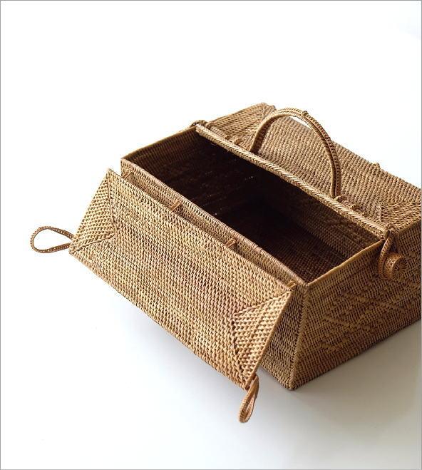 アタ 蓋付きハンドルバスケット(1)