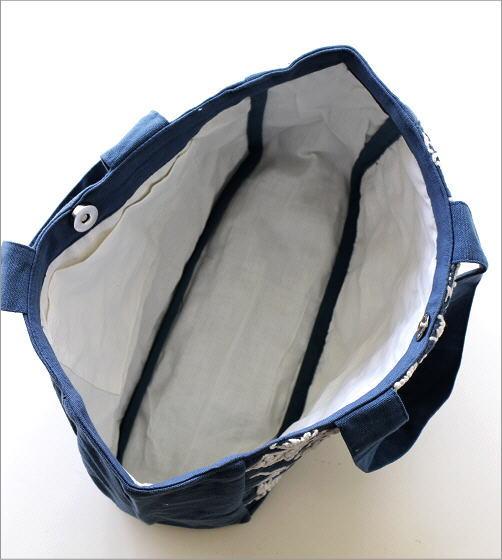 コットン刺繍ランチバッグ 2カラー(3)