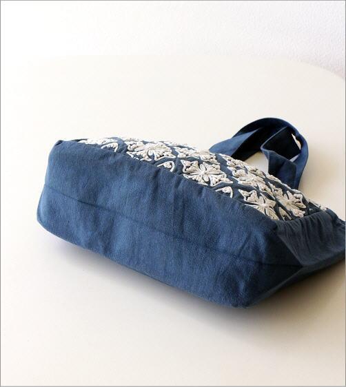コットン刺繍ランチバッグ 2カラー(5)