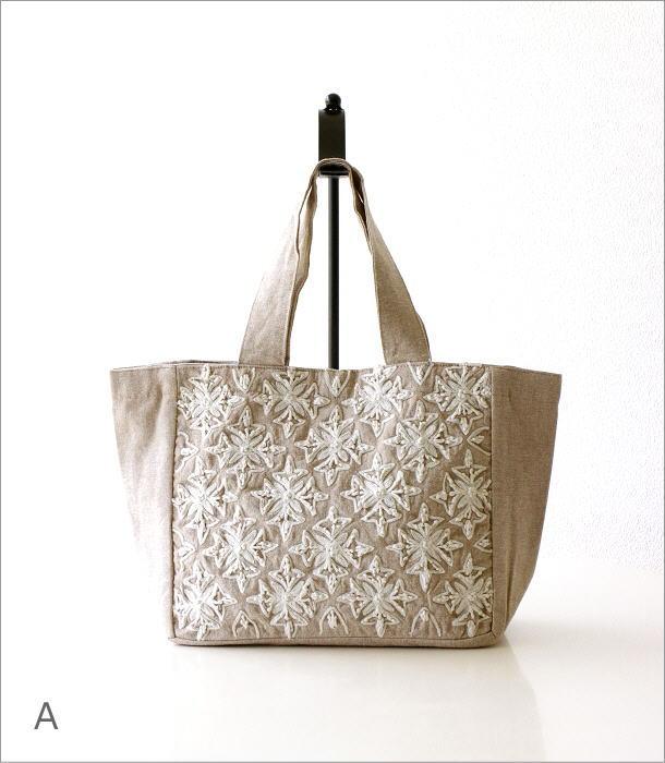 コットン刺繍ランチバッグ 2カラー(6)