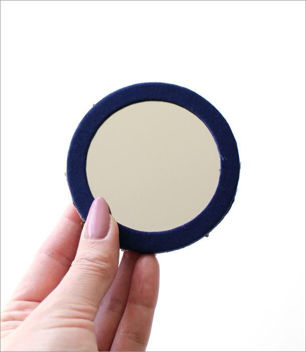 ビーズ刺繍ミニミラーC 2カラー(3)