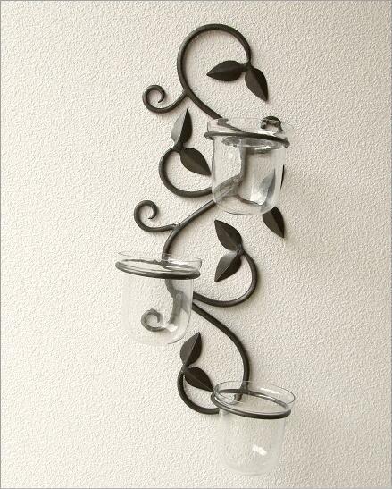 花瓶 壁掛けフラワーベース・3カップ(2)
