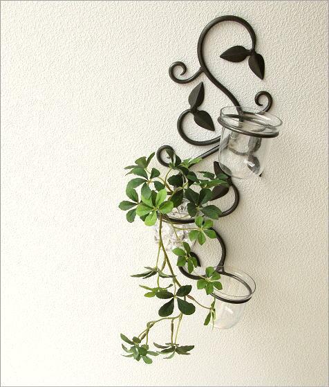 花瓶 壁掛けフラワーベース・3カップ(4)