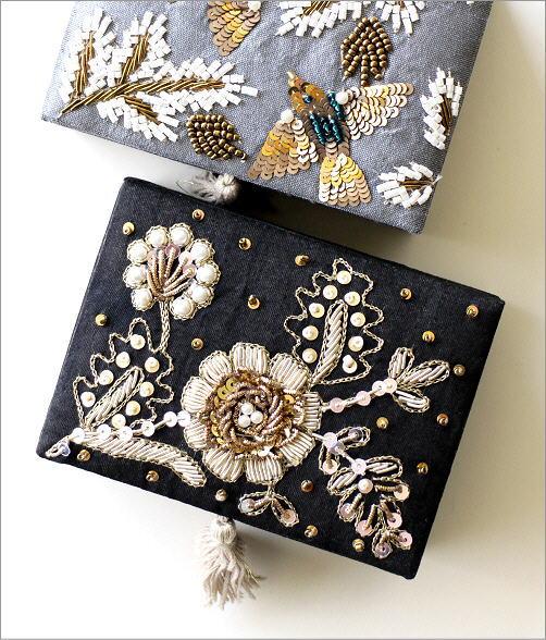 ザリ&ビーズ刺繍BOX 2カラー(2)